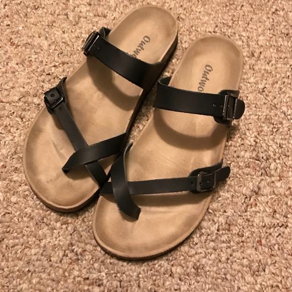 46090681cf59 Outwoods Black Birkenstock inspired Sandals. M 5a49439c3afbbd8e830198bd